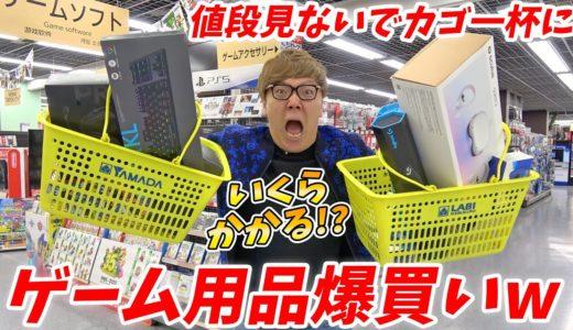 値段見ないでゲーム用品カゴいっぱいに買ったらいくらかかる!?