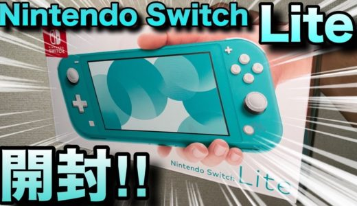 GBA?PSP?違う!これが最新の携帯ゲーム機Nintendo Switch Liteだ!!