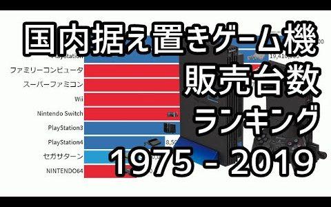 【最新版】国内据え置きゲーム機販売台数ランキング(1975 - 2019) 【統計・データ】