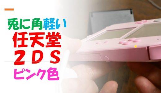 イチゴのあまおうのようなイメージのゲーム機あります とにかく軽い ストラップ穴あります  Nintendo 2DS PINK