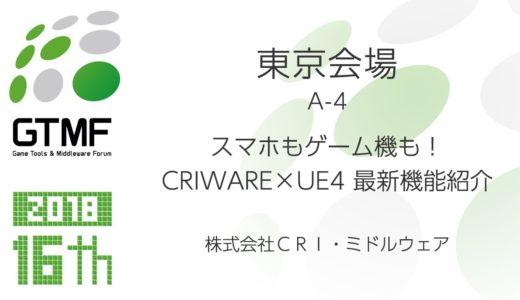 スマホもゲーム機も!CRIWARE×UE4 最新機能紹介