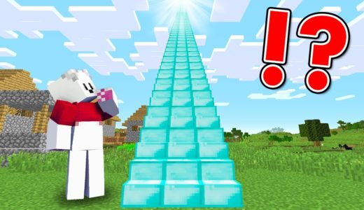 Minecraft: THE LONGEST DIAMOND STAIRCASE IN THE VILLAGE!